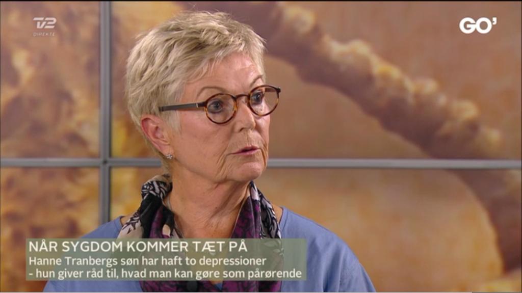 Hanne Tranberg, der bla. er aktiv som bestyrelsesmedlem i DepressionsForeningen svarede på spørgsmål ift. hvordan det er at være pårørende og hvilke gode råd, der kan være.