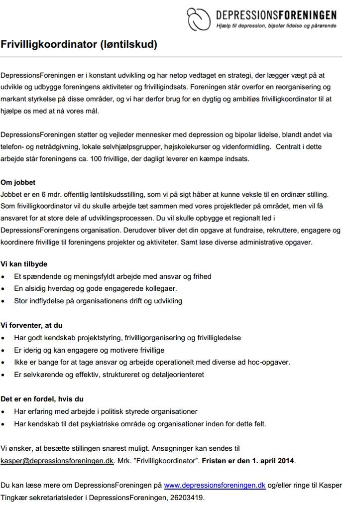 Frivilligkoordinator (løntilskud)