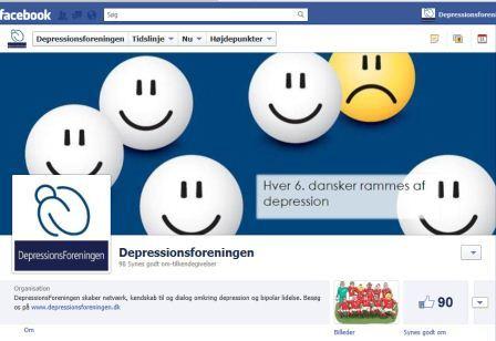 DepressionsForeningen er kommet på Facebook